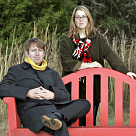 Photographers Max Becher and Andrea Robbins are a local couple who have put themselves on the national art radar for their photographs of juxtaposed scenes such as a recreated Eiffel Tower in Germany. (Rob C. Witzel/The Gainesville Sun)
