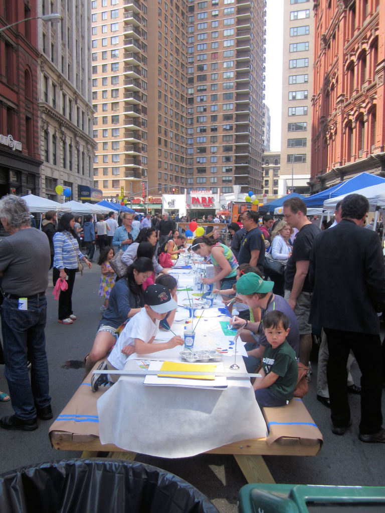 Founder's Day Block Party Art Table sponsored by Blick
