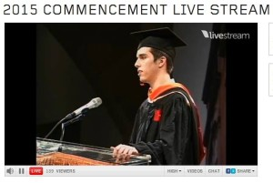 Harrison Cullen delivers the Student Commencement Address
