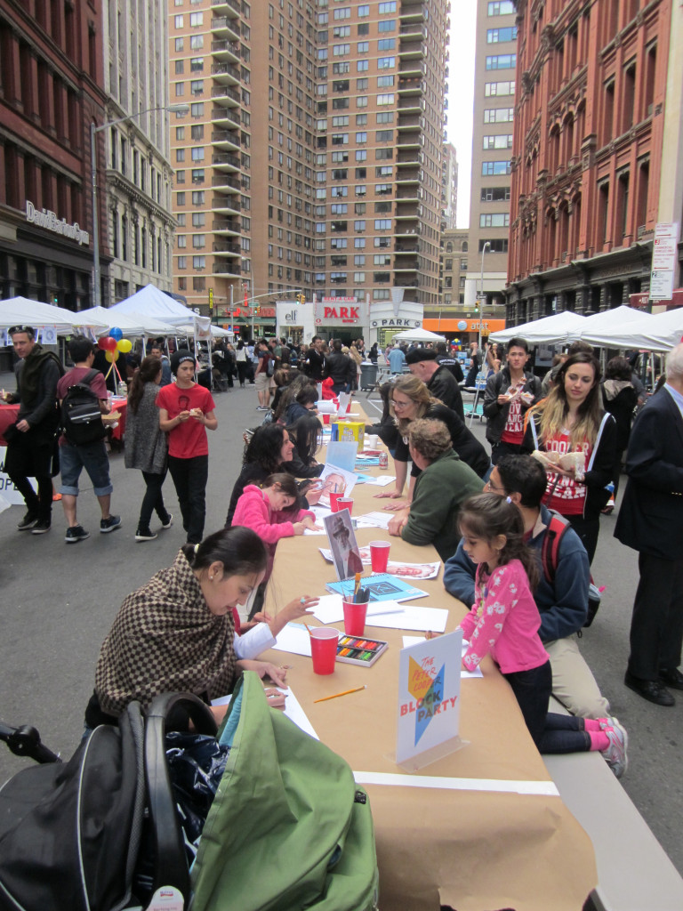2015 Block Party Art Table