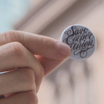 Save Cooper Union pin