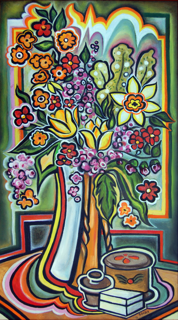 Floral Painting by Shirley Geller -- Andrew Geller Architectural Archive/Jake and Tracey Gorst Collection