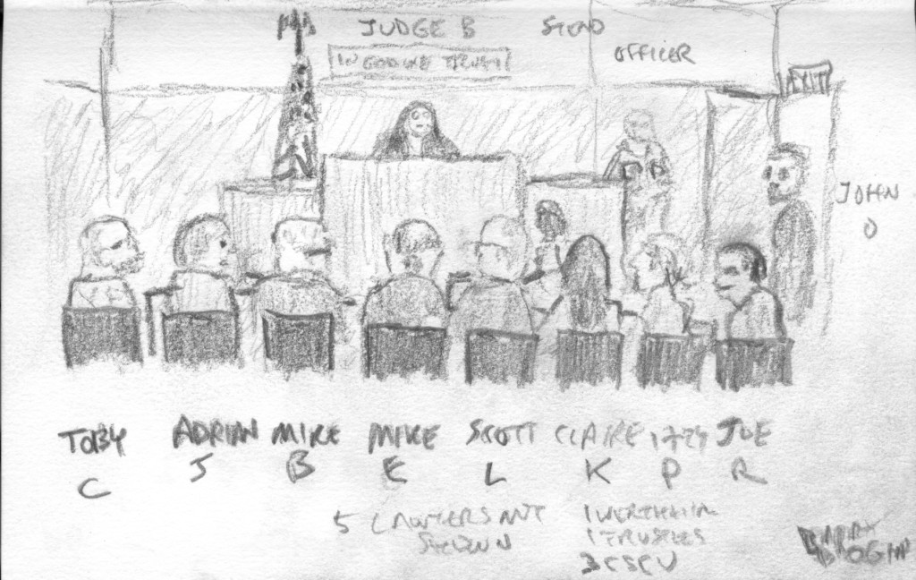 court sketch by Barry Drogin