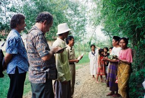 Rich Gnagey meeting villagers in Madura Island with World Banker