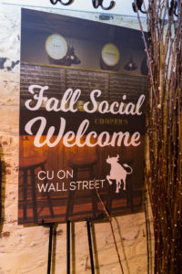 CU at Wall St 10 2016 sign